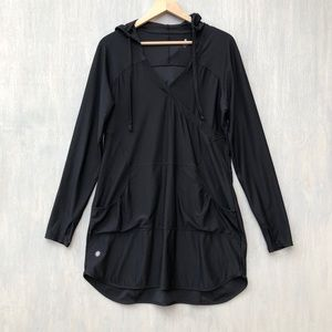 Athleta Wick It Wader beach cover up black L